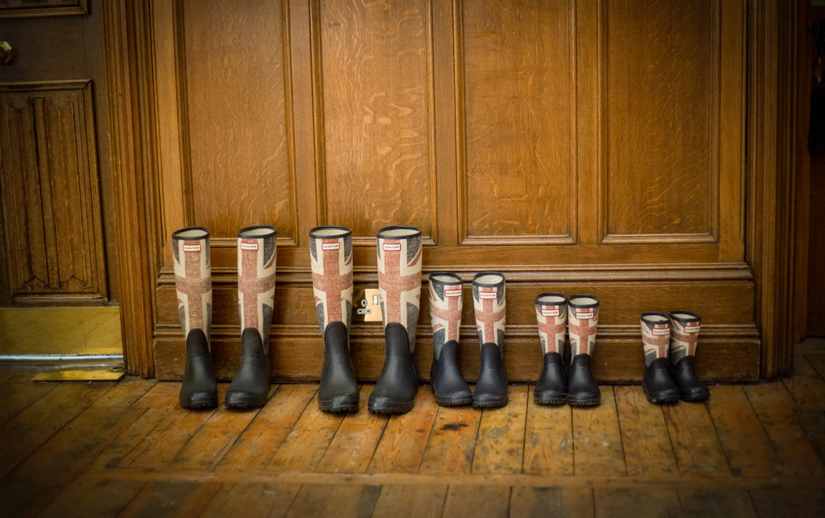 lined up boots